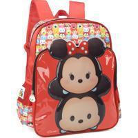 Mochila Escolar Disney Tsum Tsum Mickey & Minnie