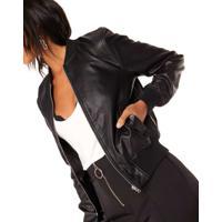 Jaqueta Bomber Leather