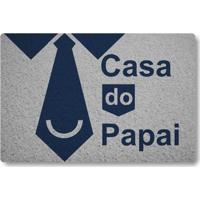 Tapete Capacho Casa Do Papai - Prata