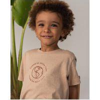 Amaro Feminino Quintal Camiseta Infantil Algodão Orgânico Planeta, Marrom