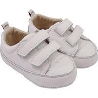 Tênis Infantil Couro Catz Calçados Noody Velcro - Unissex-Branco