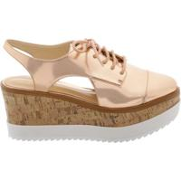 Oxford Flatform Cortiça Rose Tan | Schutz