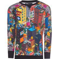 Blusa Masculina Pixel Street - Preto
