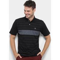 Camisa Polo Hd Trinity Masculina - Masculino-Chumbo