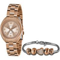 Relógio Lince Feminino Rose Gold + Pulseira - Lrr4680L-Kn09R2Rx