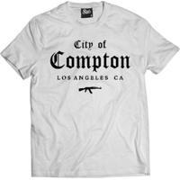 Camiseta Skull Clothing City Of Compton Masculina - Masculino-Branco