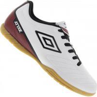 Chuteira Futsal Umbro Attak Ii - Adulto - Branco Preto 54c79bcc9dc27