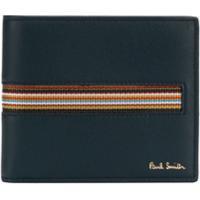Paul Smith Porta-Cartões Com Detalhe De Listra - Azul