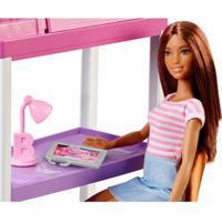Boneca Barbie - Barbie Com Móveis E Acessórios - Barbie No Escritório E Quarto - Mattel