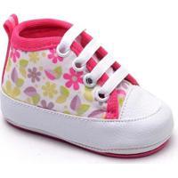 Tênis Top Franca Shoes Infantil - Feminino-Branco+Pink