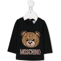 Moschino Kids Embellished Teddy Sweater - 60100 Nero