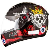 Capacete Mixs Helmets Fokker Skull - Preto/Vermelho