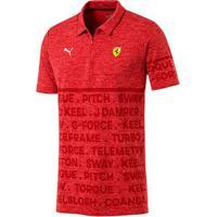 Camisa Polo Puma Ferrari Evoknit Masculina - Masculino-Vermelho