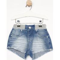 Short Jeans Estonado - Azulgabriela Aquarela