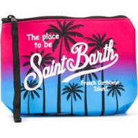 Mc2 Saint Barth Kids Estojo Com Estampa Tropical Em Degradê - Azul
