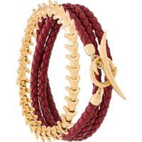 Shaun Leane Conjunto De Pulseiras 'Serpent And Signature Tusk' De Prata Banhada A Ouro - Vermelho