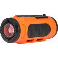 Caixa De Som Para Bike Atrio Com Bluetooth E Lanterna - Laranja