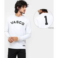 Camiseta Retrô Vasco Réplica Barbosa Manga Longa Masculina - Masculino