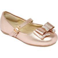 Sapato Boneca Com Termocolantes & Laço - Cobre- Lulluluzinha