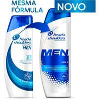 Shampoo De Cuidados Com A Raiz Head E Shoulders Men 3 Em 1 400Ml