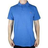 Camisa Polo Element Logo - Masculino-Azul