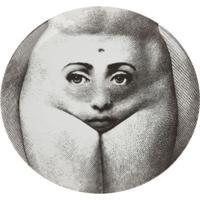 Fornasetti Prato De Porcelana Estampado - Cinza