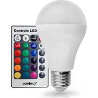 Lâmpada Led Bulbo 5W Bivolt Rgb Com Controle 03125 Ourolux