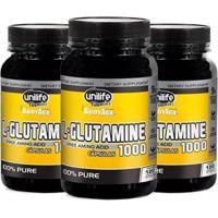 L-Glutamine 1000Mg - 3X 120 Cápsulas - Unilife - Unissex