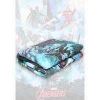 Edredon Solteiro Lepper Avengers 150X210 Cm Verde