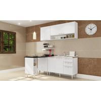 Cozinha Americana Modulada Completa Com 5 Módulos Branco - Art In Móveis