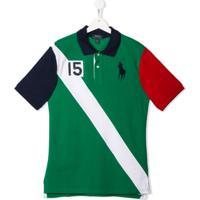 Ralph Lauren Kids Camisa Polo Com Logo Bordado - Verde