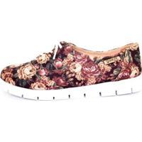Oxford Tratorado Quality Shoes Floral Feminino - Feminino