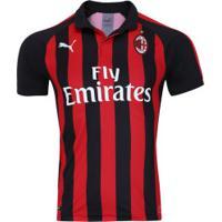 Camisa Milan I 2018 Puma - Masculina - Vermelho/Preto
