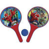 Kit De Frescobol Disney Homem Aranha: 2 Raquetes E 1 Bolinha