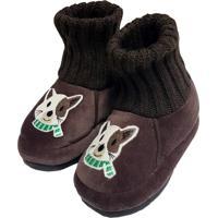 Pantufa Infantil Masculina Em Pelúcia Para Inverno - Gatinho