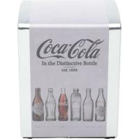 Porta Guardanapo Em Metal Coca-Cola Evolution Of Bottles
