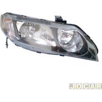 Farol - Depo - Civic 2007 Até 2011 - Lampada Hb3/Hb4 - Lado Do Passageiro - Cada (Unidade) - 58526