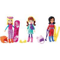 Conjunto De Bonecas - Férias Da Polly Pocket - Polly Férias Na Neve - Mattel - Feminino-Incolor