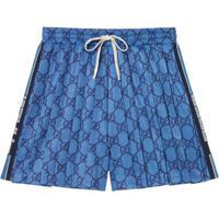 Gucci Short Gg De Jérsei - Azul