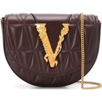 Versace Pochete Matelassê Virtus - Marrom