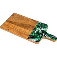 Tábua De Queijo Palmeira Marrom 1X15X33 Cm