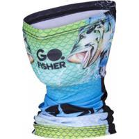 Bandana Go Fisher Proteção Solar Uv 50 - Masculino-Azul