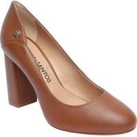 a762af2330 Sapato Tradicional Em Couro Com Recorte Lateral- Marrom