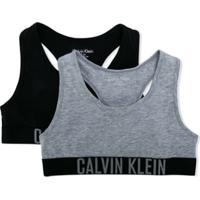 Calvin Klein Kids Conjunto De Top - Preto