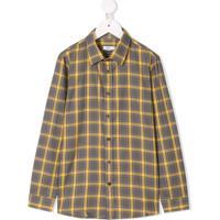 Knot Camisa Xadrez - Amarelo