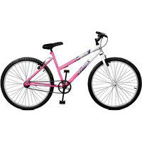 Bicicleta Master Bike Aro 26 Feline Rosa/Branco
