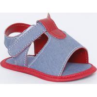 Papete Com Recorte Vazado -Azul Claro & Vermelha - Ttico Baby