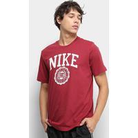 Camiseta Nike Nsw Uni Athtltc Masculina - Masculino-Vermelho+Branco