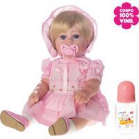 Boneca Laura Baby Mariana *100% Vinil - Loiro & Azulshiny Toys
