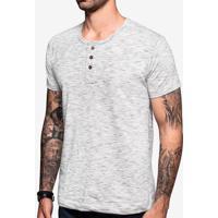 Camiseta Henley Mesclada 103500